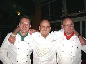 Egbert Groterhorst mit Ralf Zacherl und Stefan Buscher