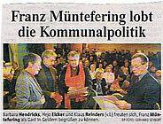 Franz Mündefering lobt die Kommunalpolitik