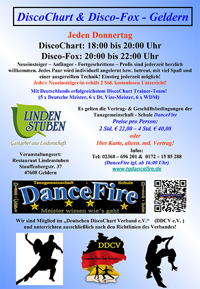 Disco-Fox & DiscoChart Workshops in Geldern
