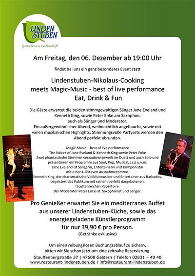 indenstuben-Nikolaus-Cooking meets Magic-Music