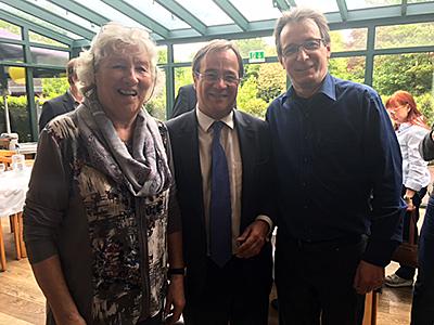 Christel Sager (CDU Geldern), Armin Laschet (Ministerpräsident, Egbert Groterhorst (Lindenstuben)