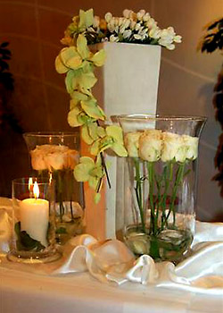 Hochzeit in den Lindenstuben - Tischdekoration
